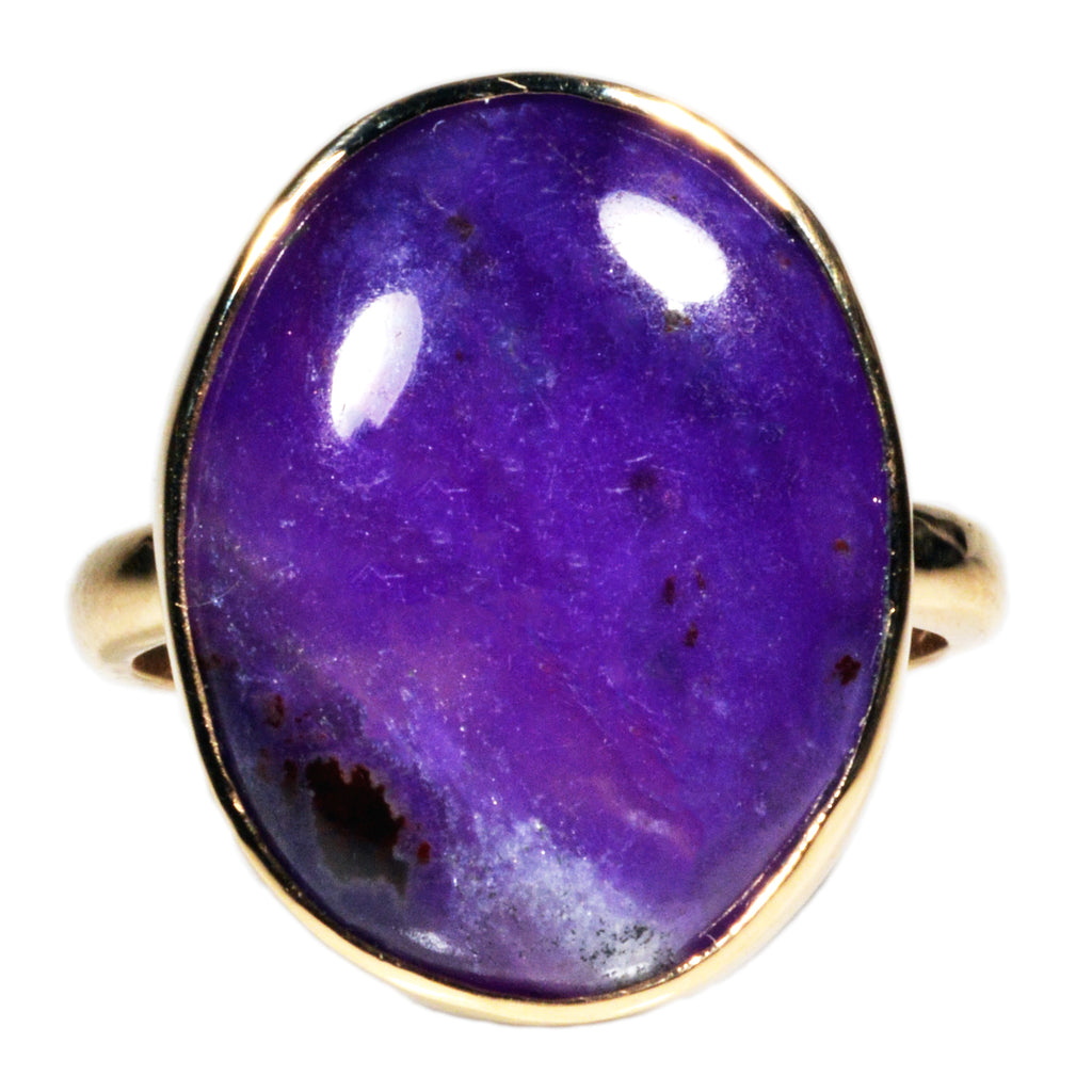 Sugilite 8.05ct Cabochon 14k Handcrafted Gemstone Ring