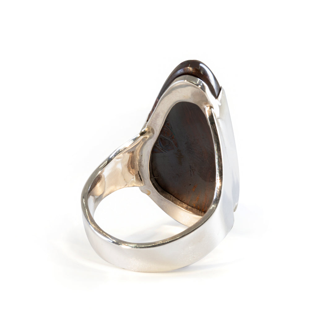 Boulder Opal 22.85 carat Handcrafted Sterling Silver Cabochon Ring