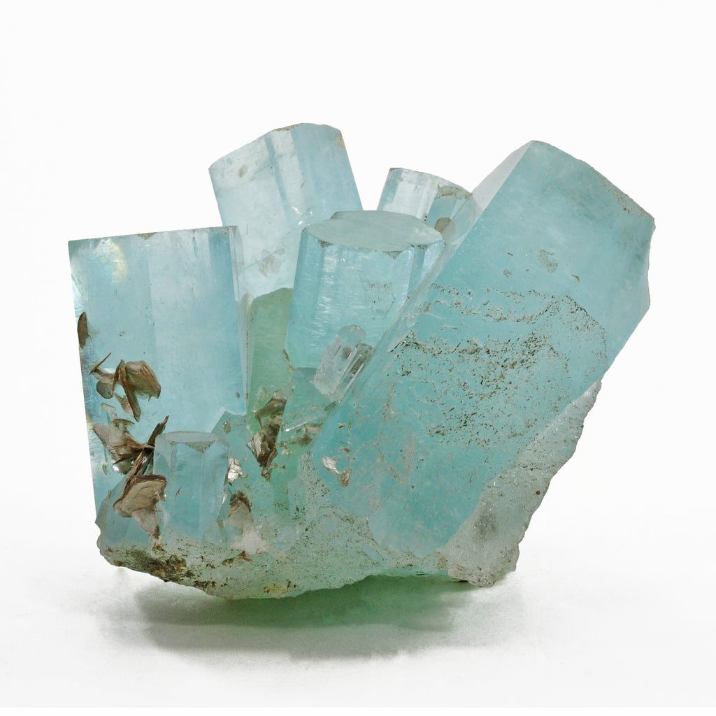Aquamarine 2.58lb Natural Gem Crystal Cluster - Pakistan