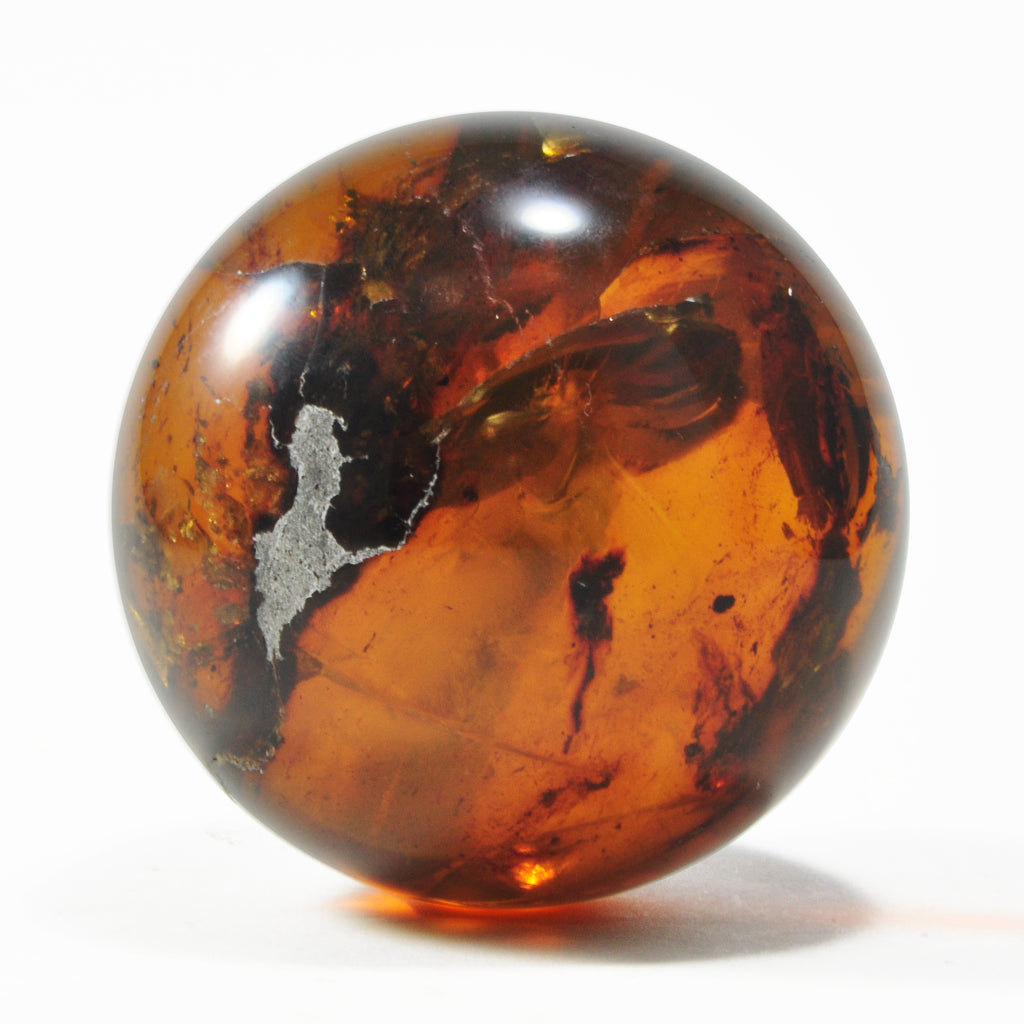 Amber 2.83 inch 0.45 lbs Natural Crystal Polished Sphere - Mexico