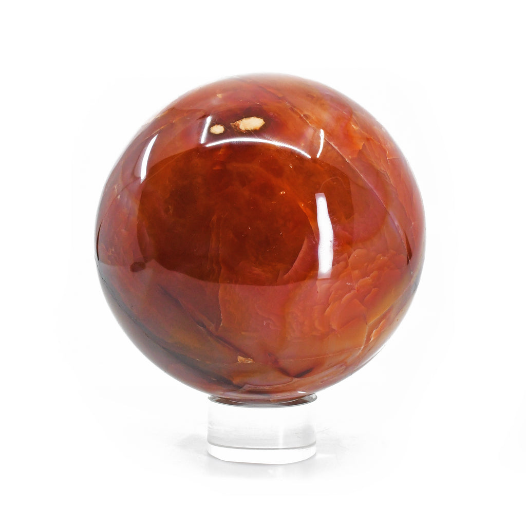 Carnelian 4.46 inch 4.23 lbs Natural Crystal Polished Sphere - Madagascar