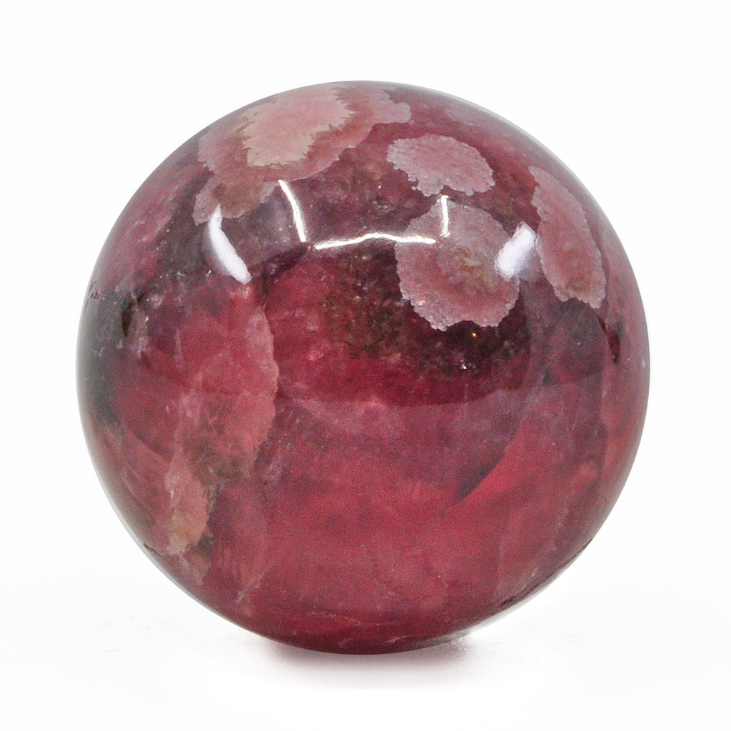 Rhodochrosite 1.1 inch 68.8 gram Natural Crystal Polished Sphere - Argentina