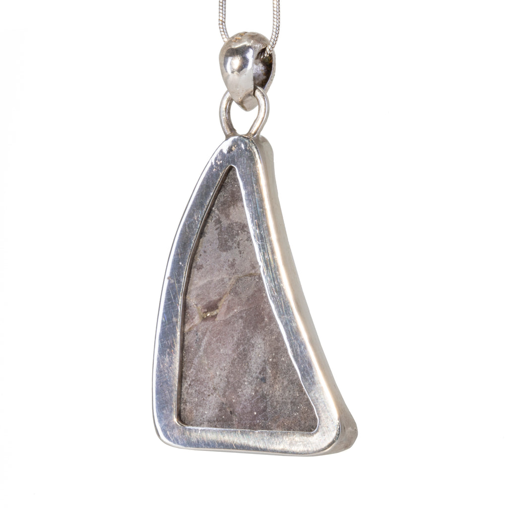 Cobalt Calcite 37.53 carat Handcrafted Sterling Silver Natural Crystal Druzy Pendant