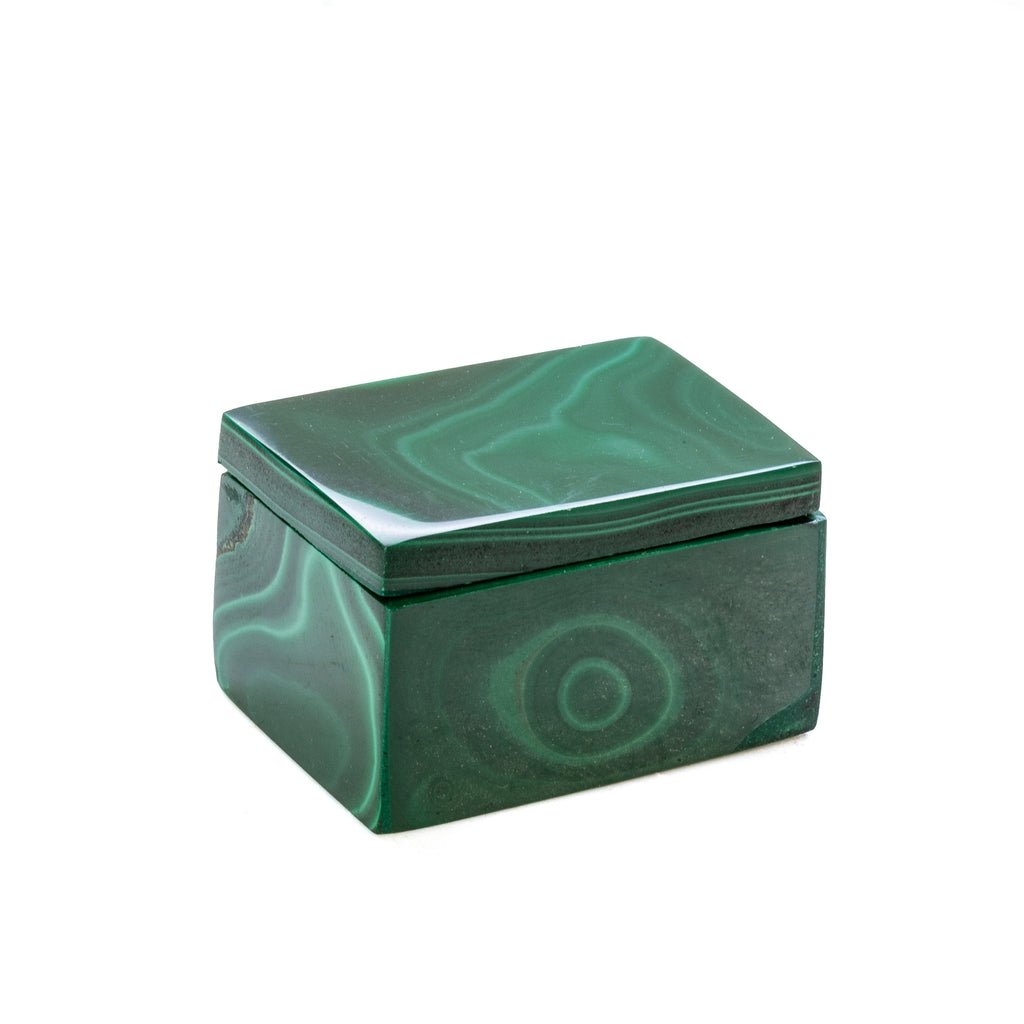 "Malachite 1.3"" Polished Crystal Box - Congo"