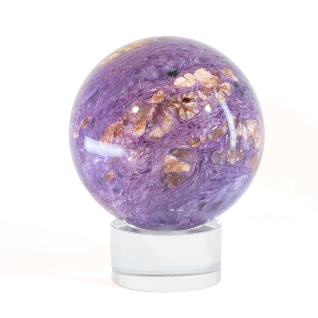 Charoite 2.6 inch Natural Crystal Sphere - Russia