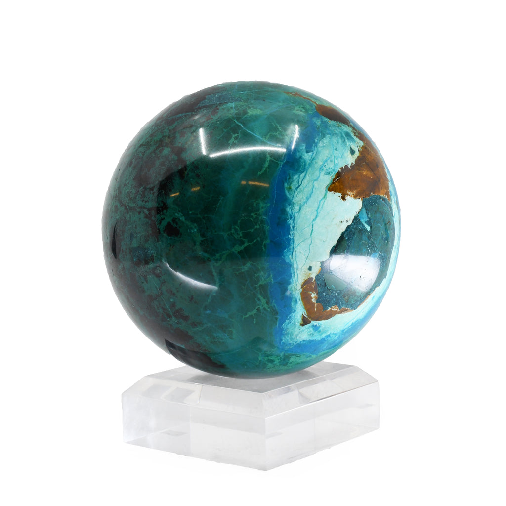 Chrysocolla 4 inch Polished Crystal Sphere