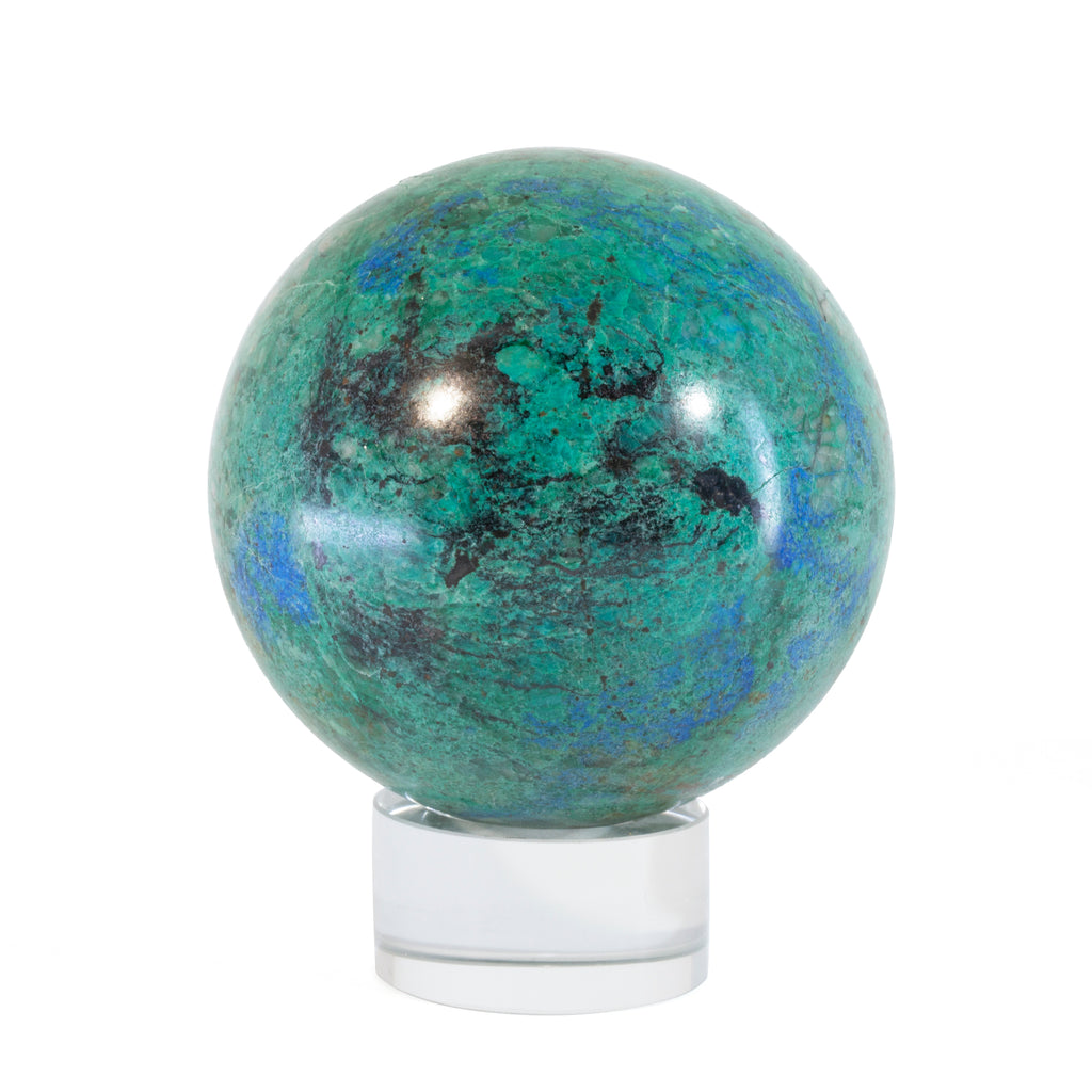 Chrysocolla 2.9 inch 1.35lb Polished Crystal Sphere - Arizona, USA