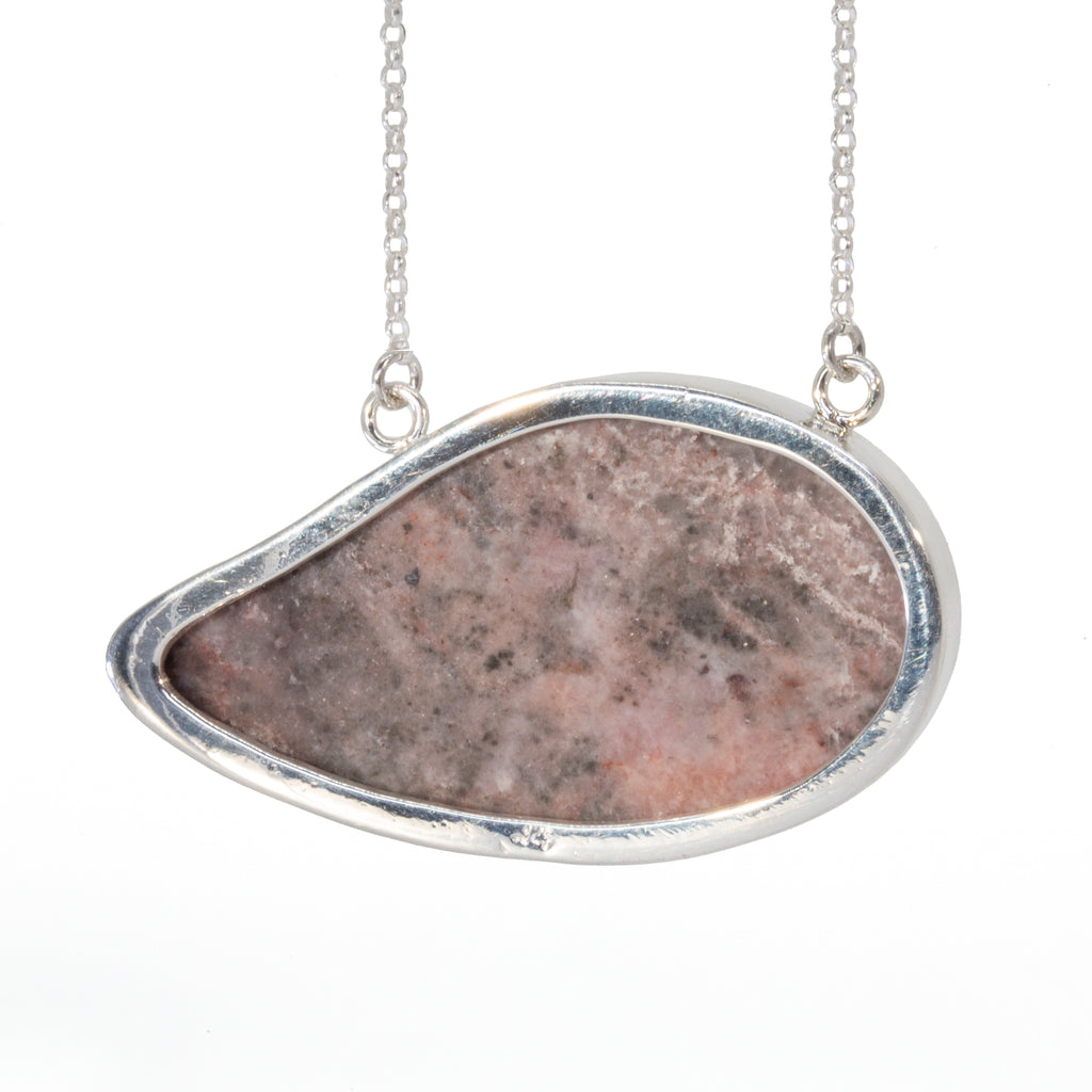 Cobalt Calcite 37.07 carat Natural Druzy Handcrafted Sterling Silver Necklace