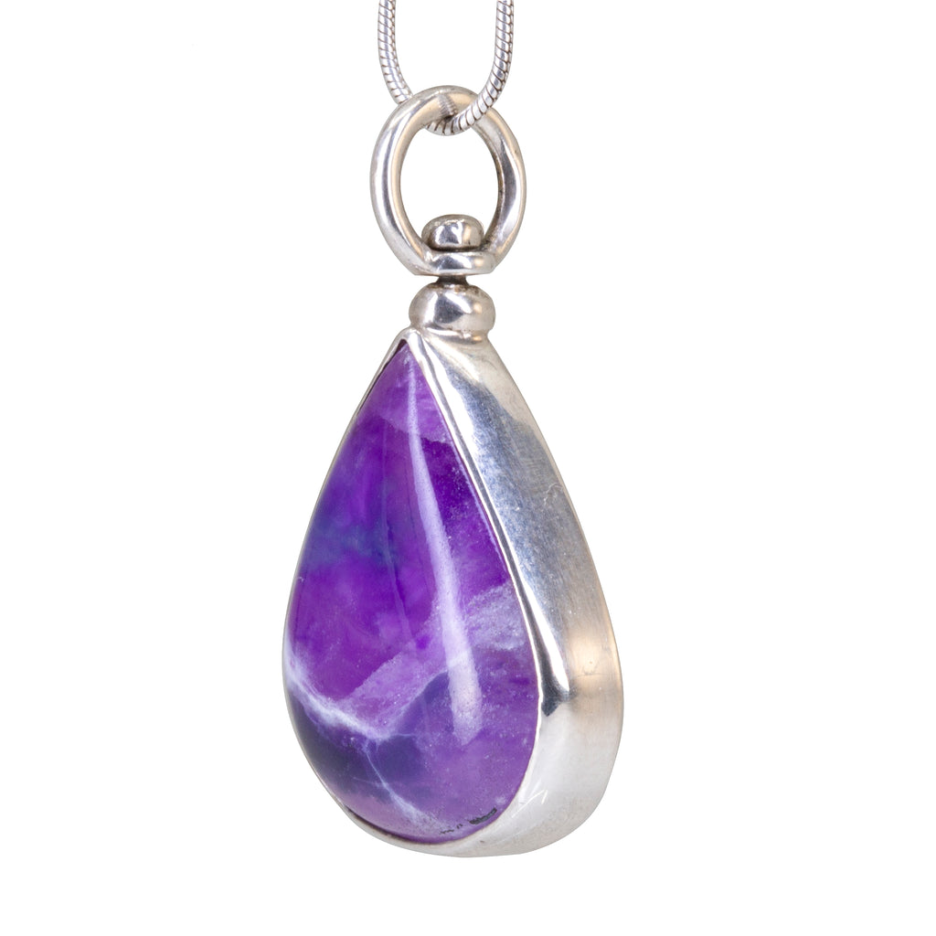Sugilite 17.3carat Cabochon Handcrafted Sterling Silver Pendant