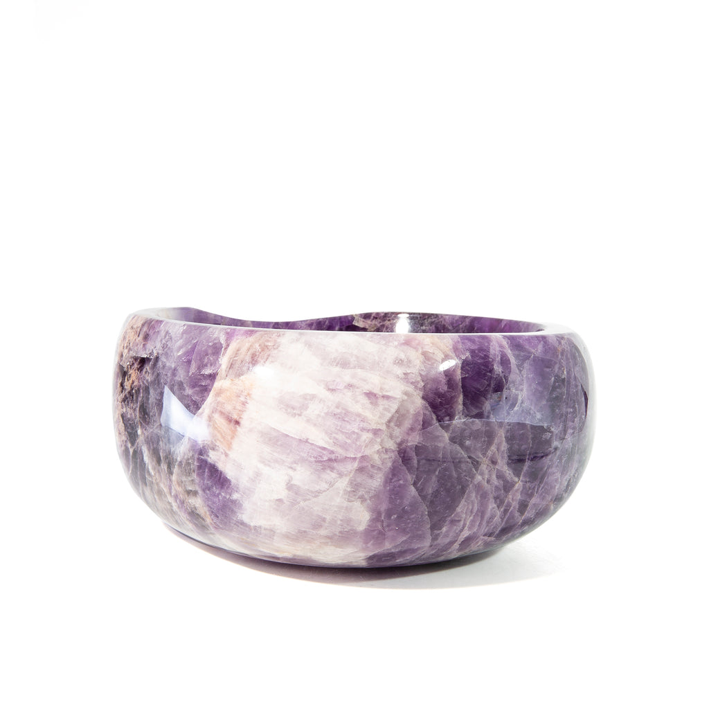 Amethyst Carved 6.75 inch Crystal Bowl - Brazil
