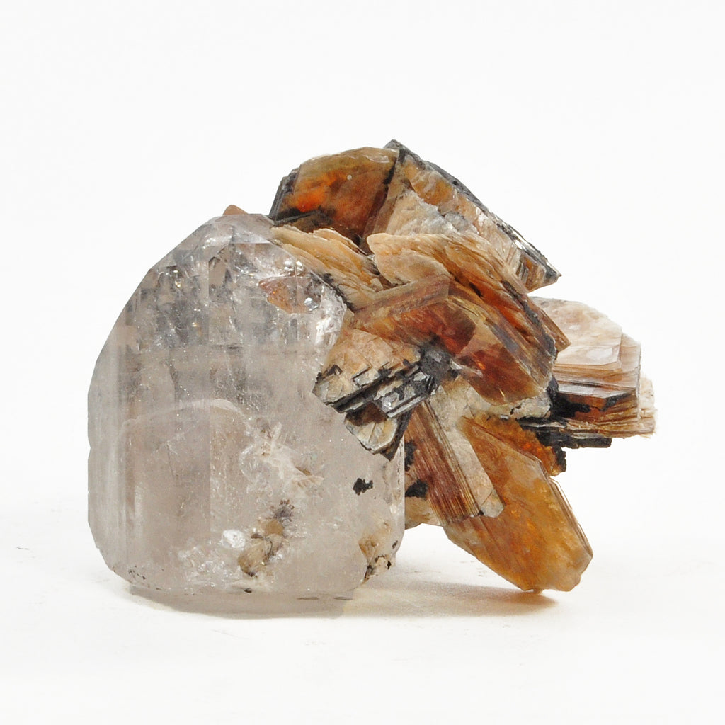 Topaz Gem Crystal on Muscovite Natural Crystal Specimen - Pakistan