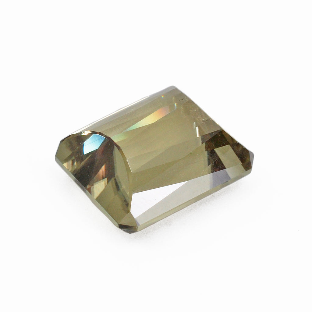 Color-change Diaspore 12.03 mm 7.55 carats Faceted Rectangle Gemstone