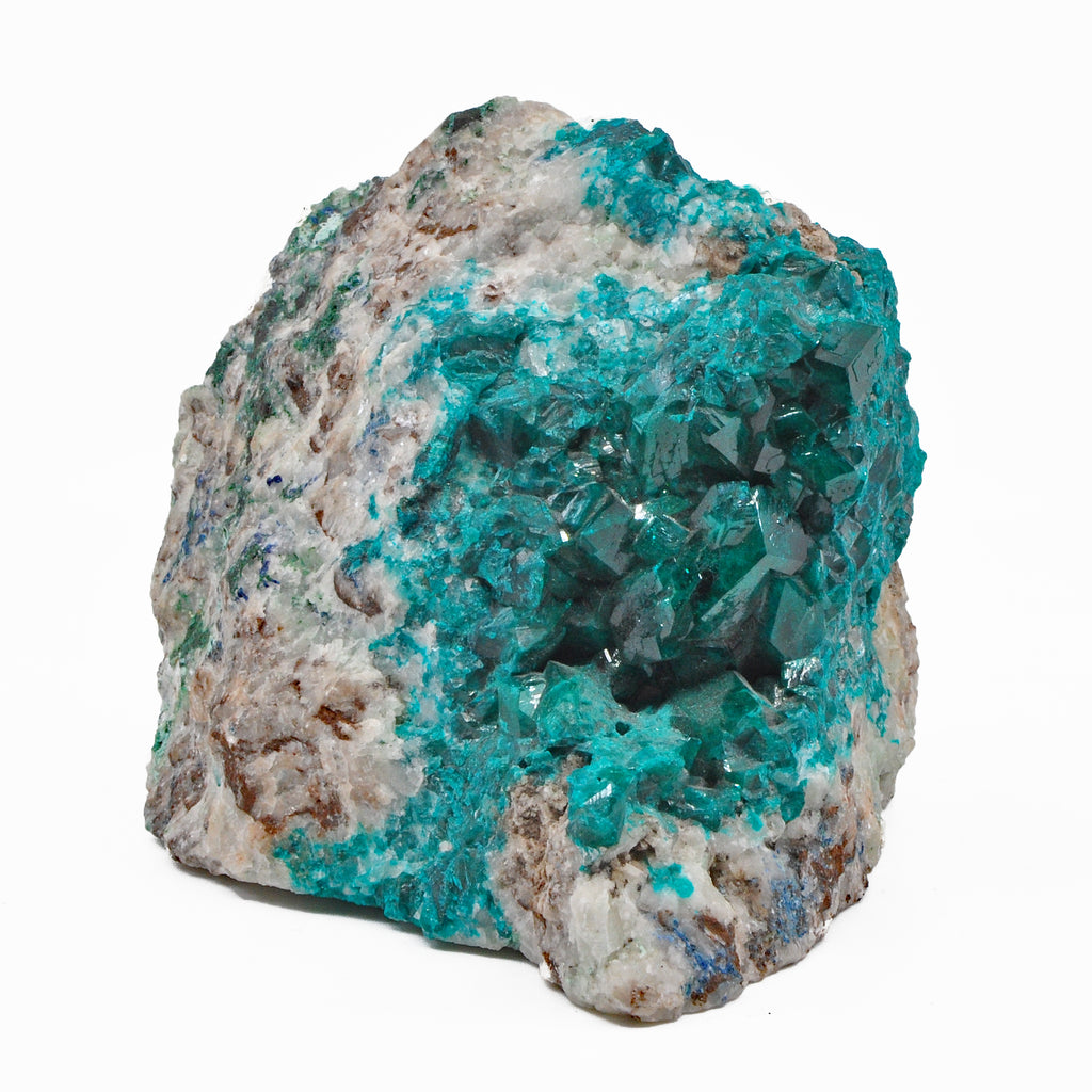 Dioptase 4.08 inch 1.84 lbs in Matrix Natural Gem Crystal Specimen - Congo