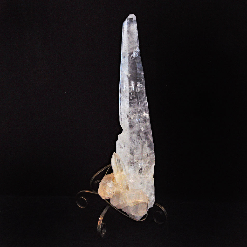 Rare Large Quartz  21 inch 13.64 lbs Laser Point on Stand - Brazil