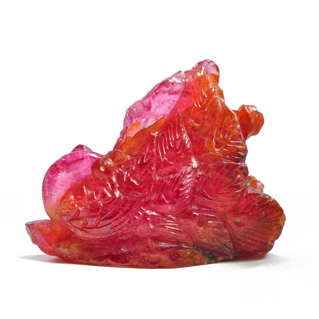 Spinel 20.3gr Carved Gemstone Crystal Ganesh