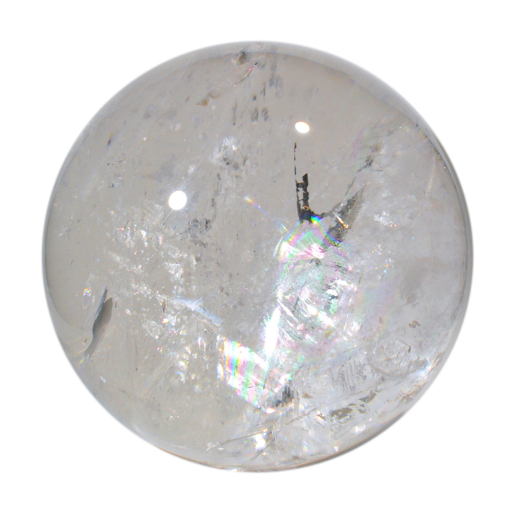 Quartz 10.83 inch 62 lbs Natural Crystal Sphere - China