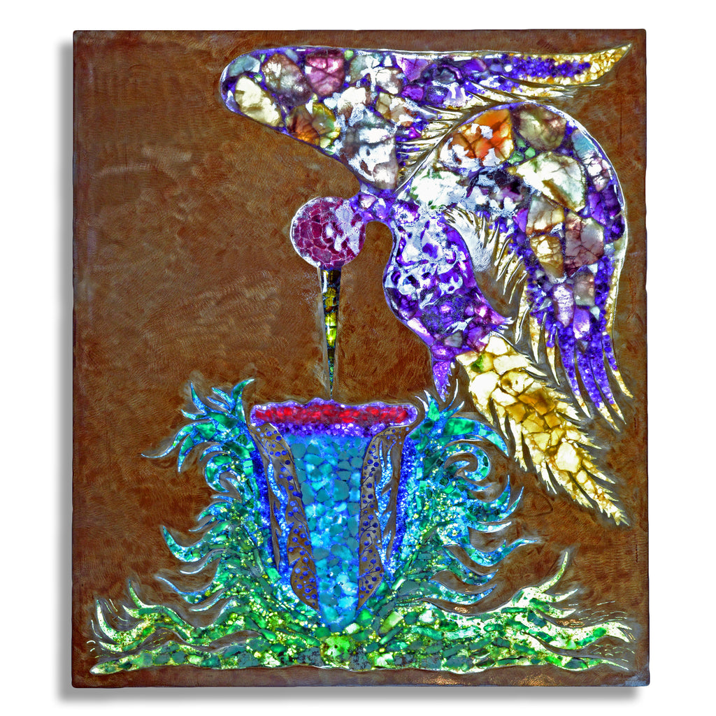 Gemstone Hummingbird Illuminated Light Panel