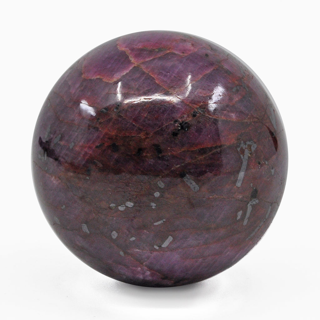 Ruby 1.67 inch 0.35 lbs Natural Crystal Polished Sphere - India