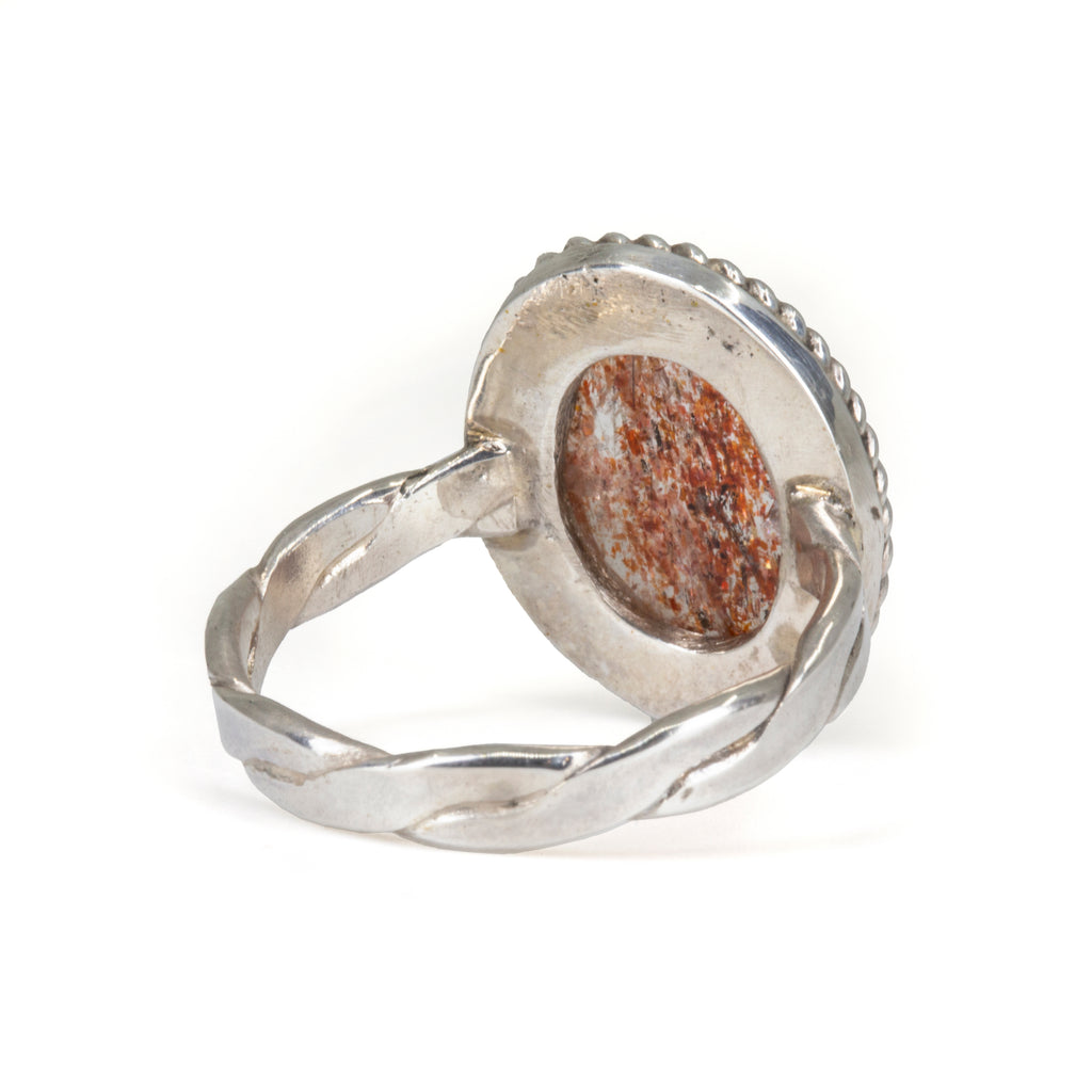Sunstone 6.04ct Cabochon Handcrafted Sterling Silver Ring