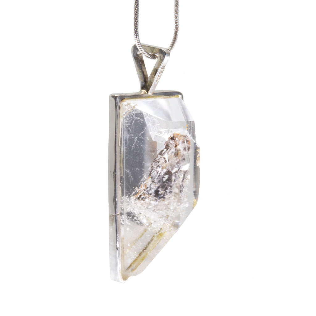 Manifestation Quartz 30.48 ct Handcrafted Sterling Silver Pendant