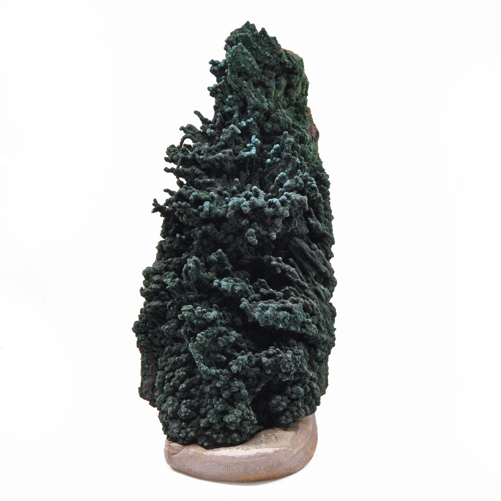Malachite 16 inch 25.12 lbs Natural Crystal Stalactite Specimen - Congo