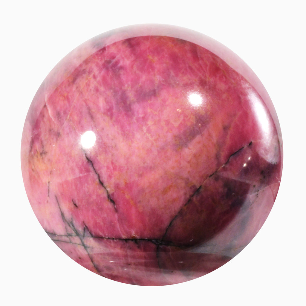 Rhodonite 2.32 inch 393.7 gram Natural Crystal Sphere