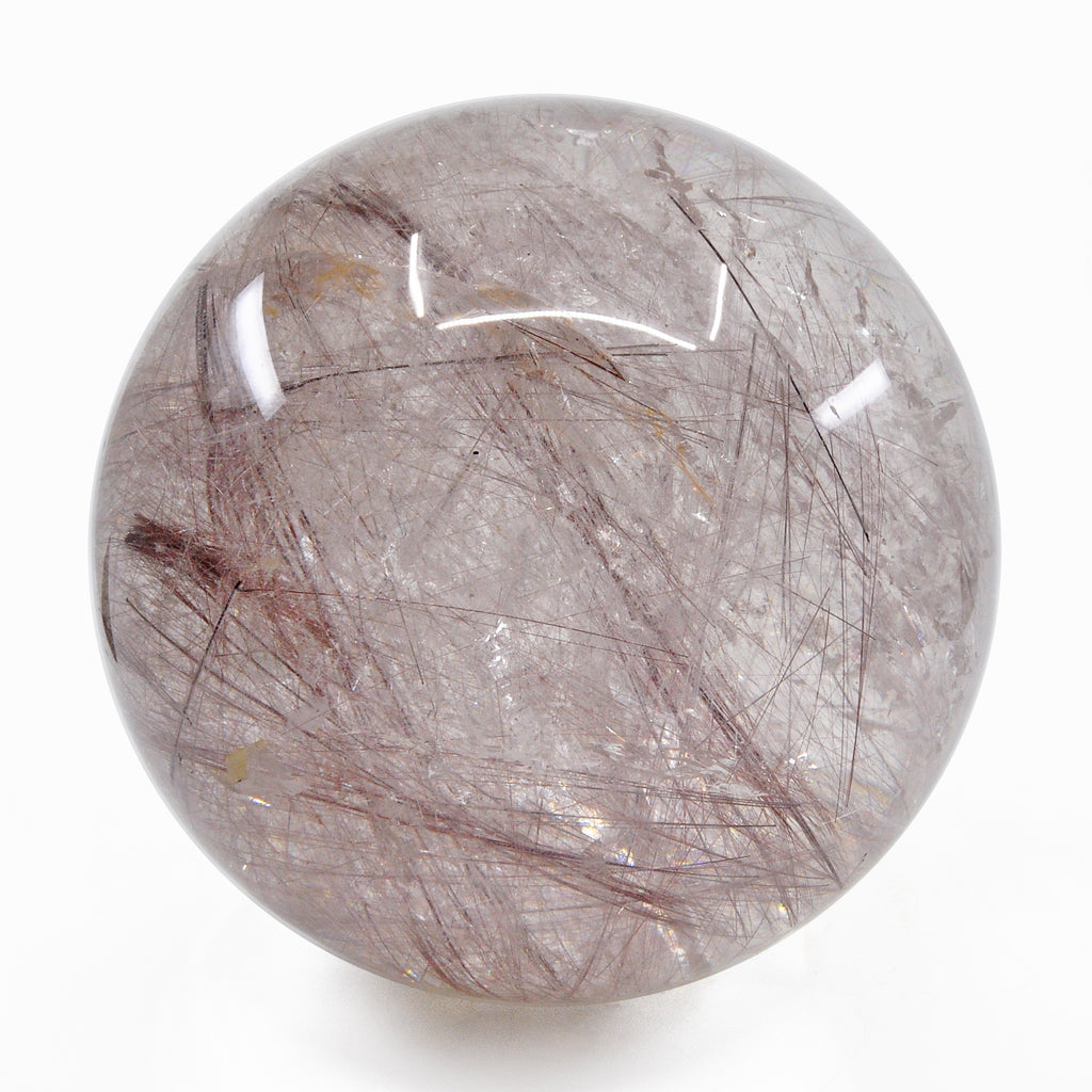 Rare Rutilated Quartz 25.5 lbs 8 inch Large Natural Crystal Polished Sphere - Brazil