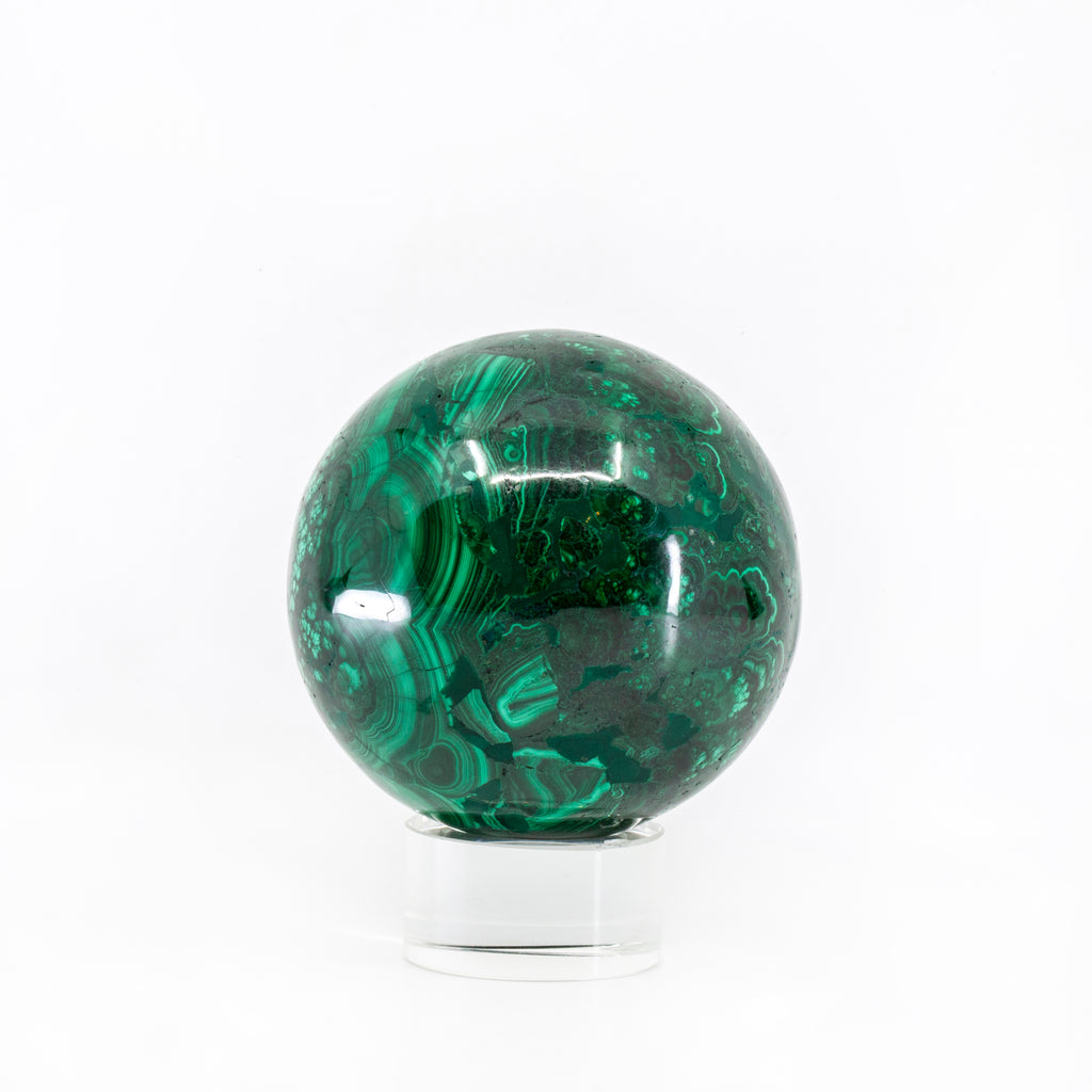 Malachite 2.9 inch Polished Crystal Sphere - Congo