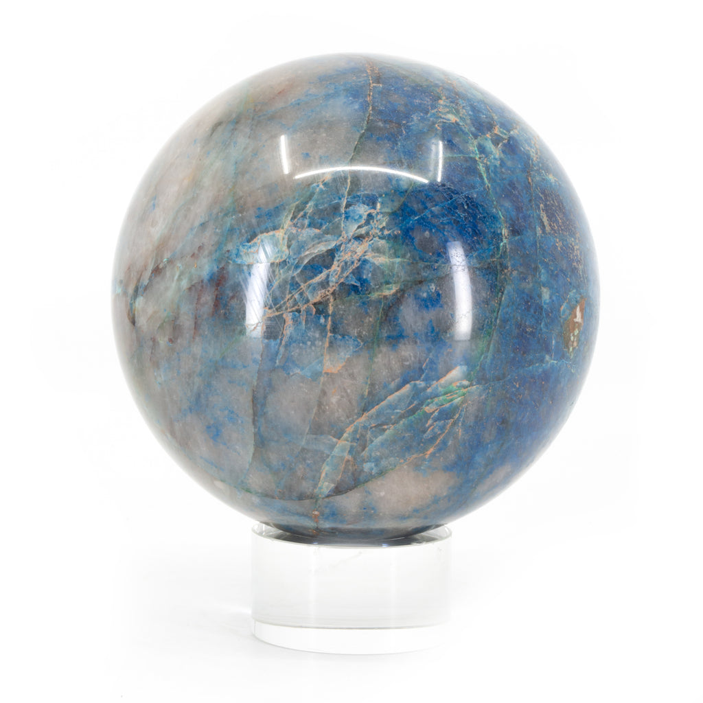 Shattuckite in Quartz 3.5 inch 2.4lb Polished Crystal Sphere