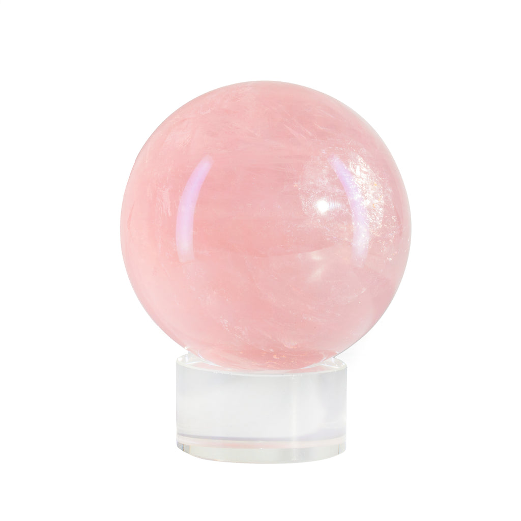 Star Rose Quartz 2.52 inch Polished Crystal Sphere - Madagascar