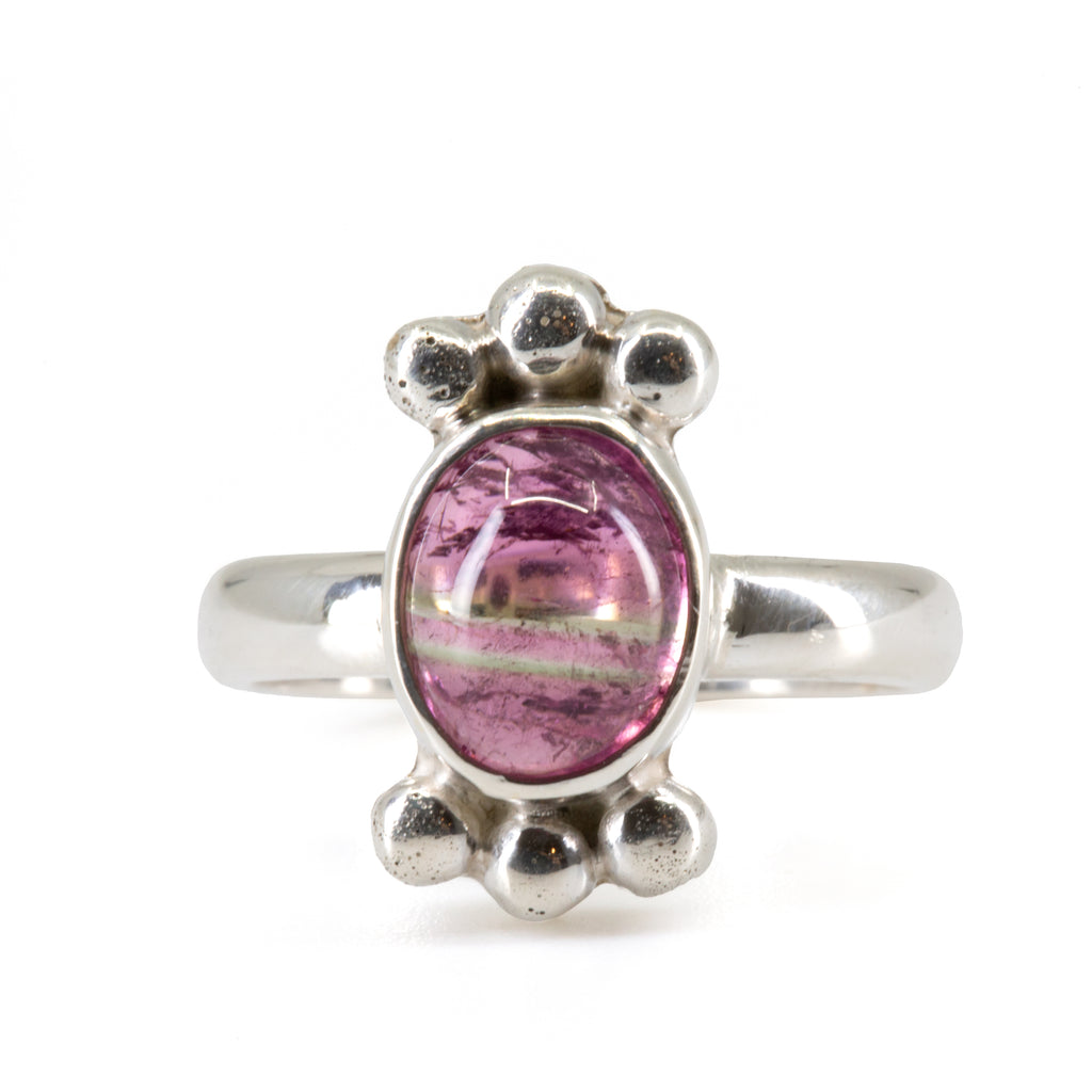 Pink Tourmaline 2.78 ct Sterling Silver Handcrafted Ring