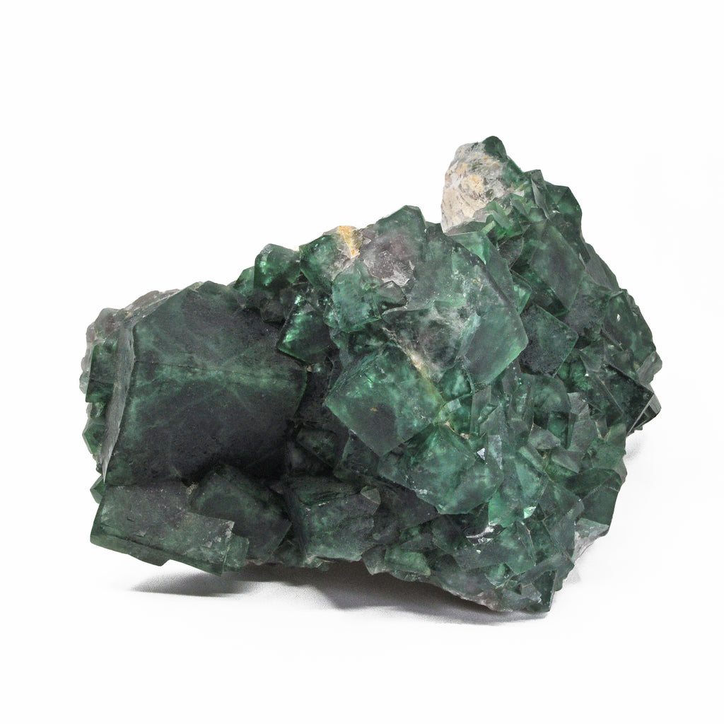 Green Fluorite 15 inch 26.5 lbs Natural Crystal Cluster on Matrix - Madagascar