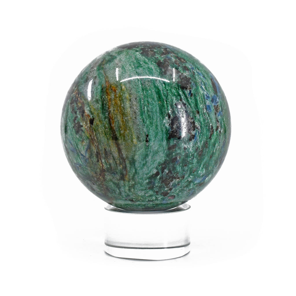 Kyanite, Garnet and Fuchsite 2.95 inch 1.31 lbs Natural Crystal Polished Sphere - Russia