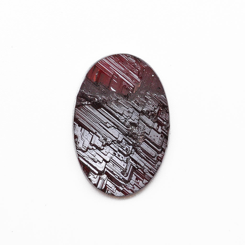Spessartite Garnet 23.60 mm 22.53 carats Partial Polished Natural Etched Gemstone