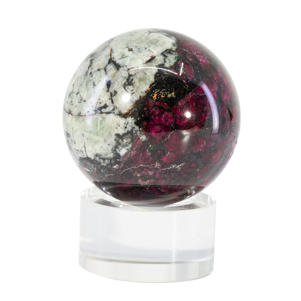 Eudialyte 1.9 inch 185 gram Polished Crystal Sphere - Russia