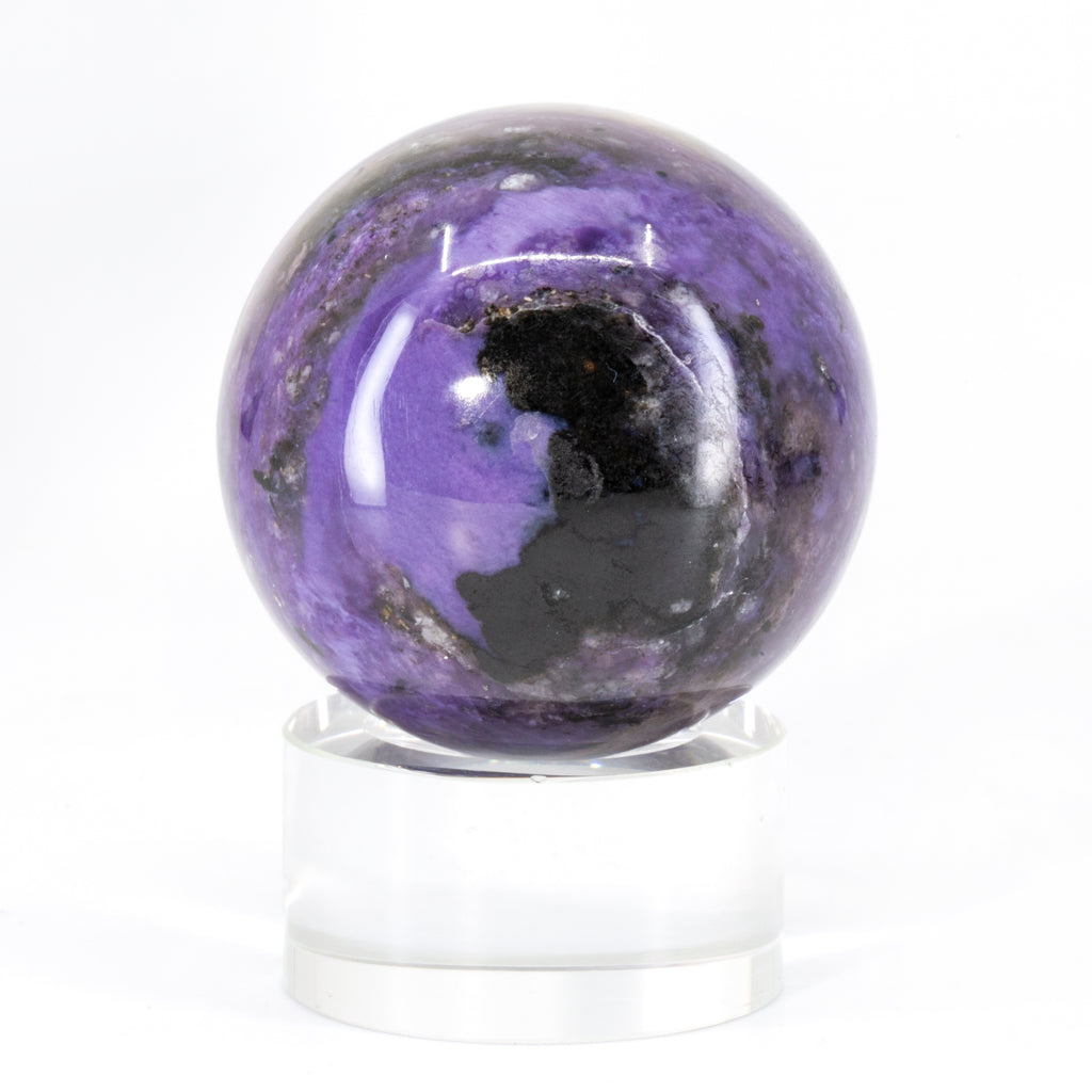 "Charoite 1.9"" 168 gram Polished Crystal Sphere - Russia"