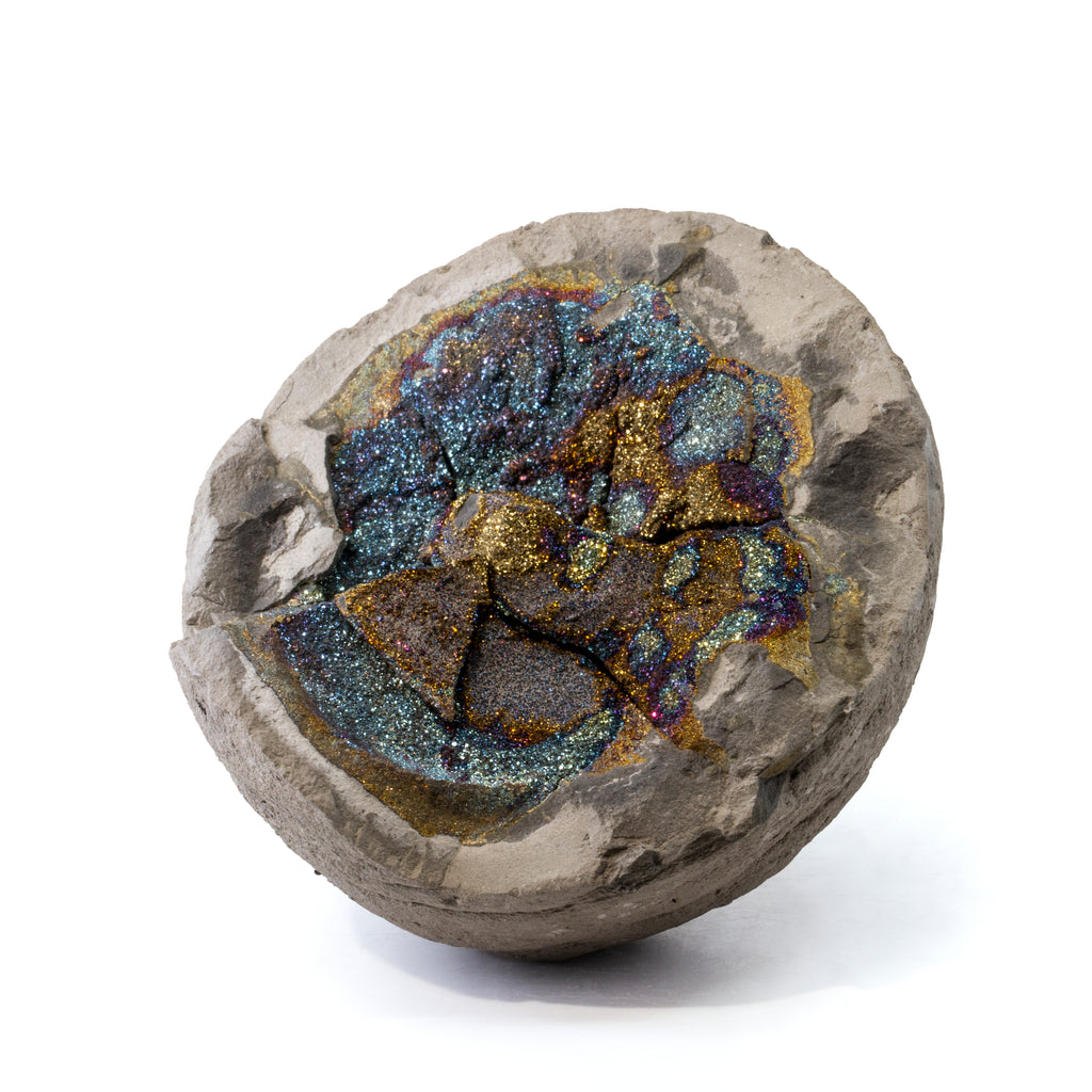 Chalcopyrite Druzy 1.65lb Natural Crystal Concretion - Russia