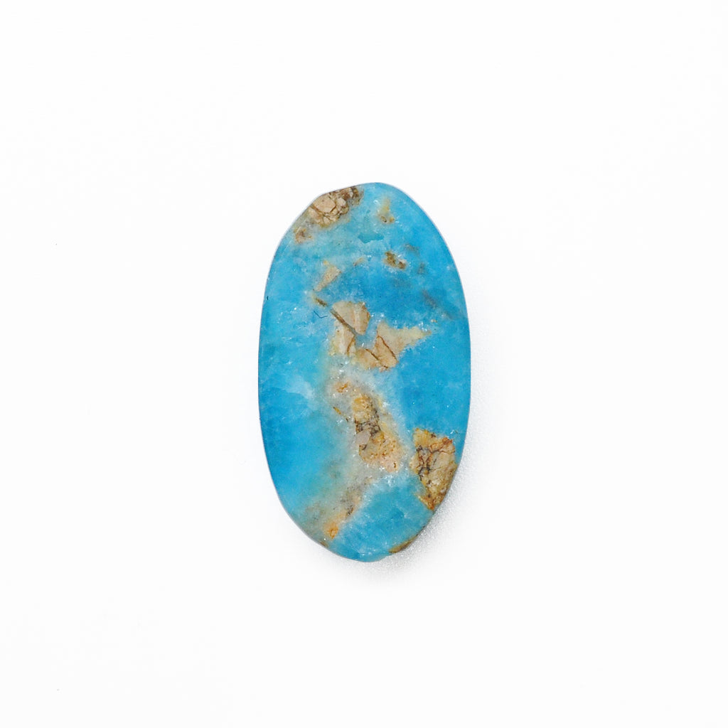 Druzy Hemimorphite 25.31 mm 20.20 carats Partial Polished Natural Crystal Oval Cabochon - China