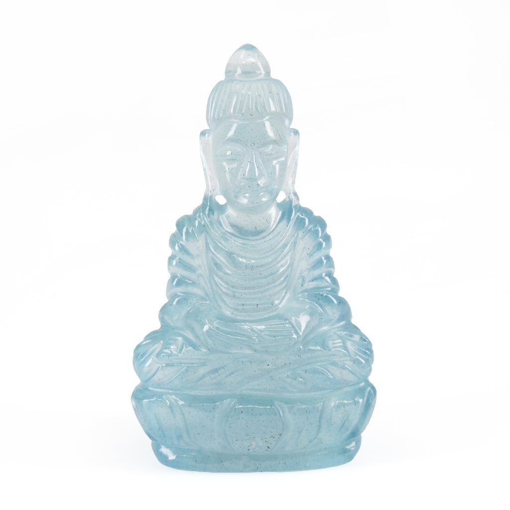 Aquamarine 13.2 gram Sitting Buddha Carving