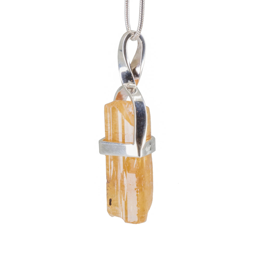 Imperial Topaz 16.76 ct Handcrafted Natural Crystal Pendant