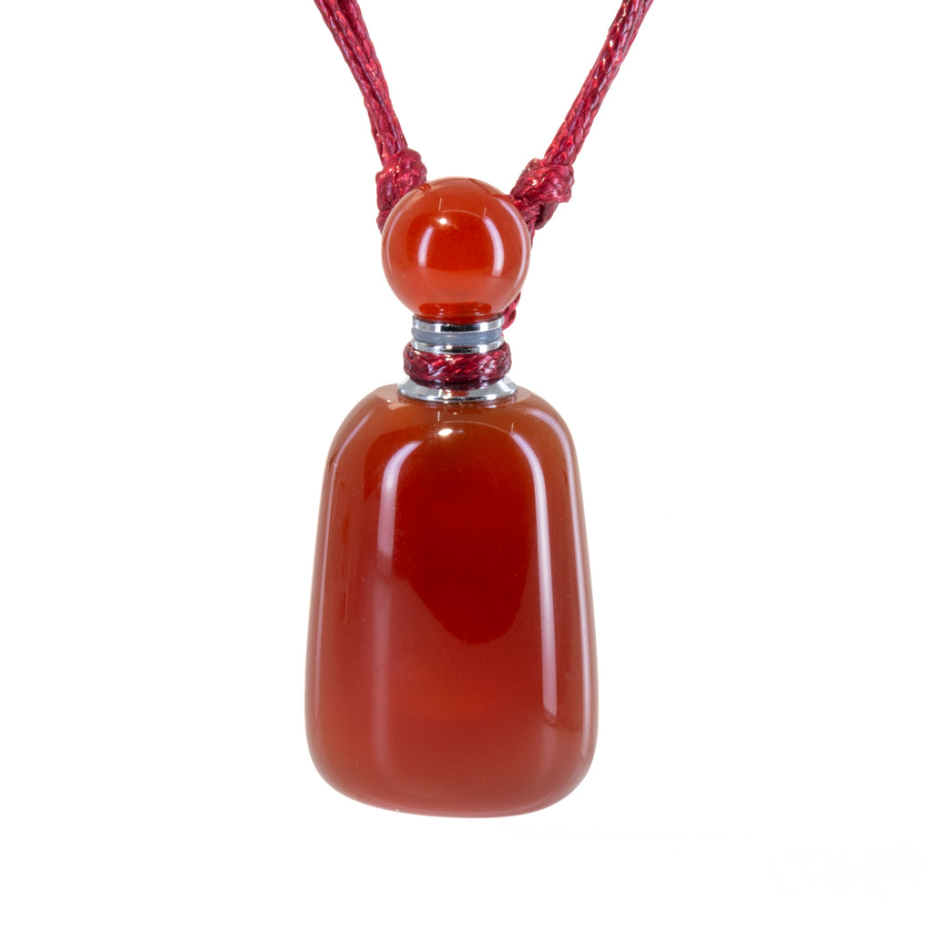 Carnelian 35mm Carved Perfume Bottle Pendant