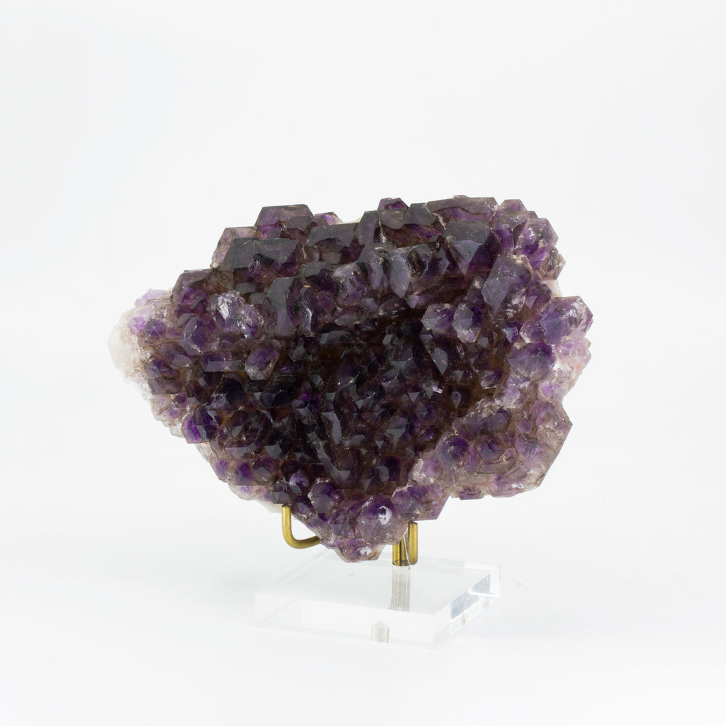 Amethyst 6.5 inch 2.7 lb Elestial Natural Crystal Plate - Brazil