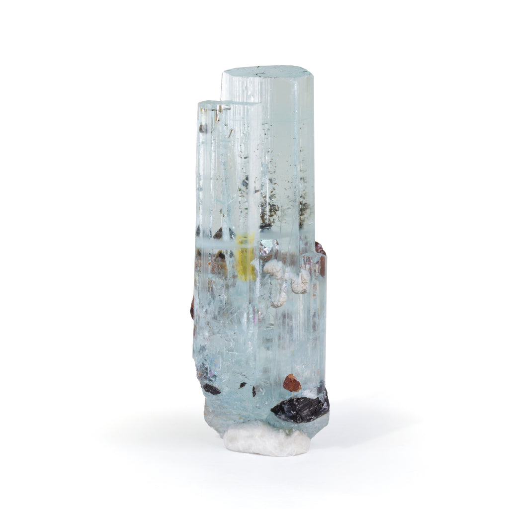 Aquamarine with Spessartine Garnet 58.64mm 123 carat Natural Crystal - Pakistan