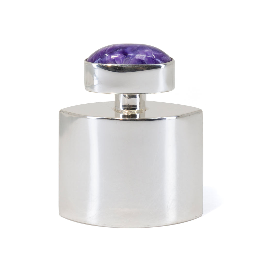 Charoite Sterling Silver Gemstone Perfume Bottle