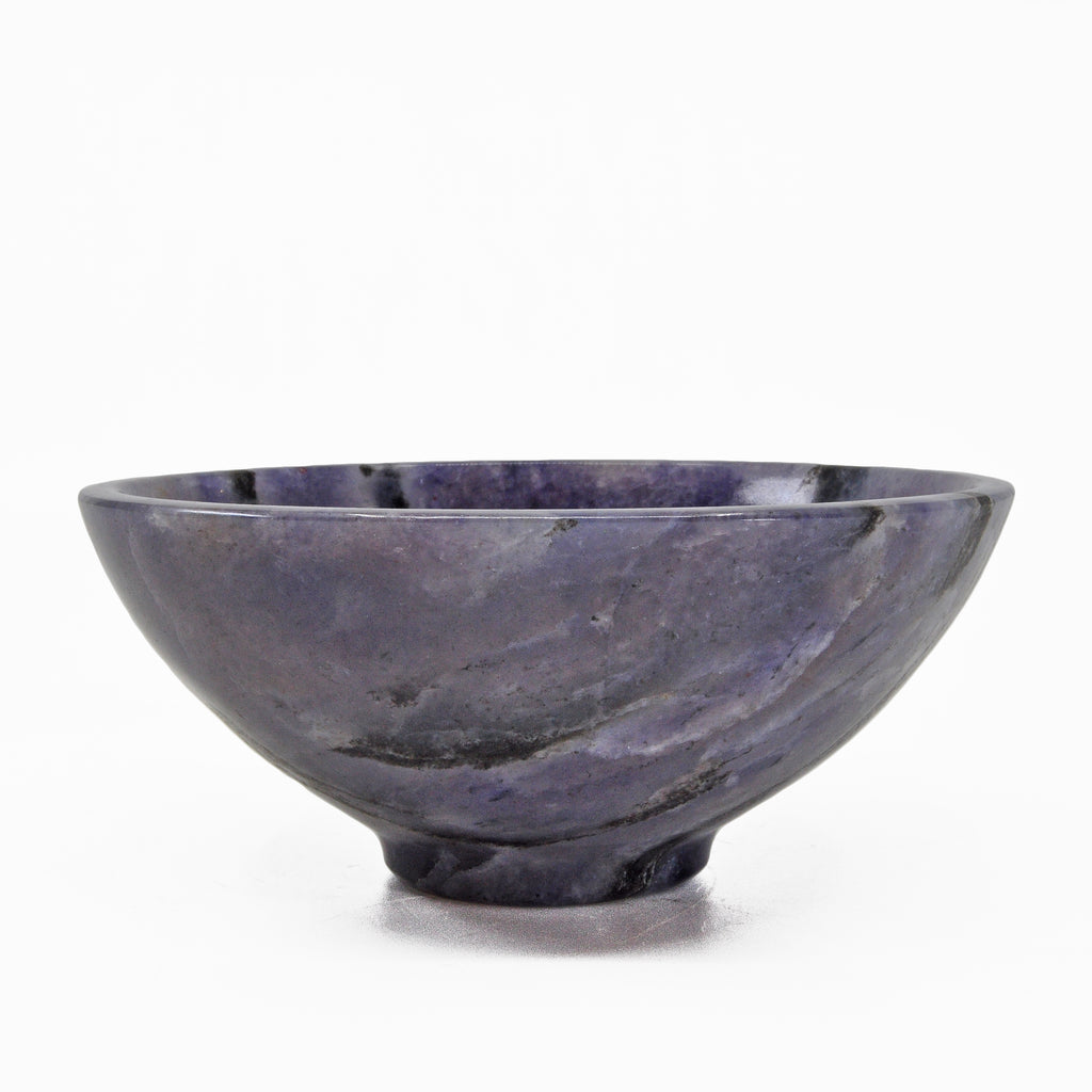 Iolite 5.25 inch 551 grams Natural Crystal Polished Bowl - India