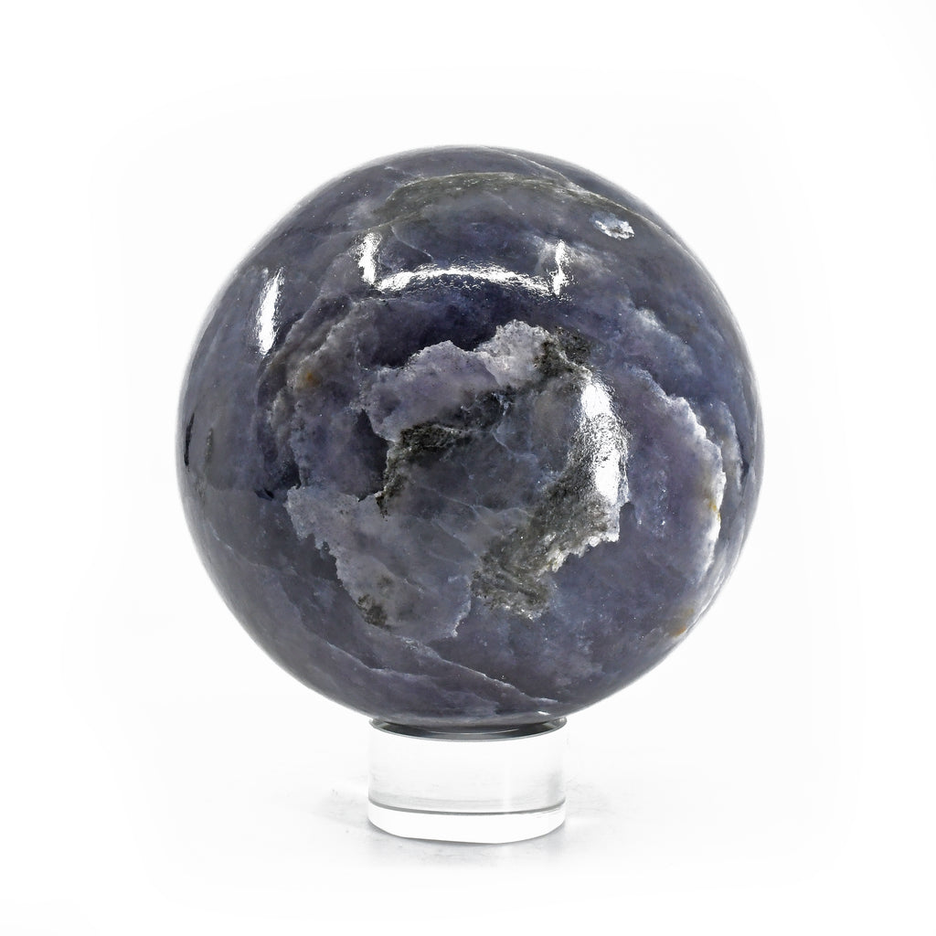 Iolite 4.29 inch 4.1 lbs Natural Crystal Polished Sphere - India