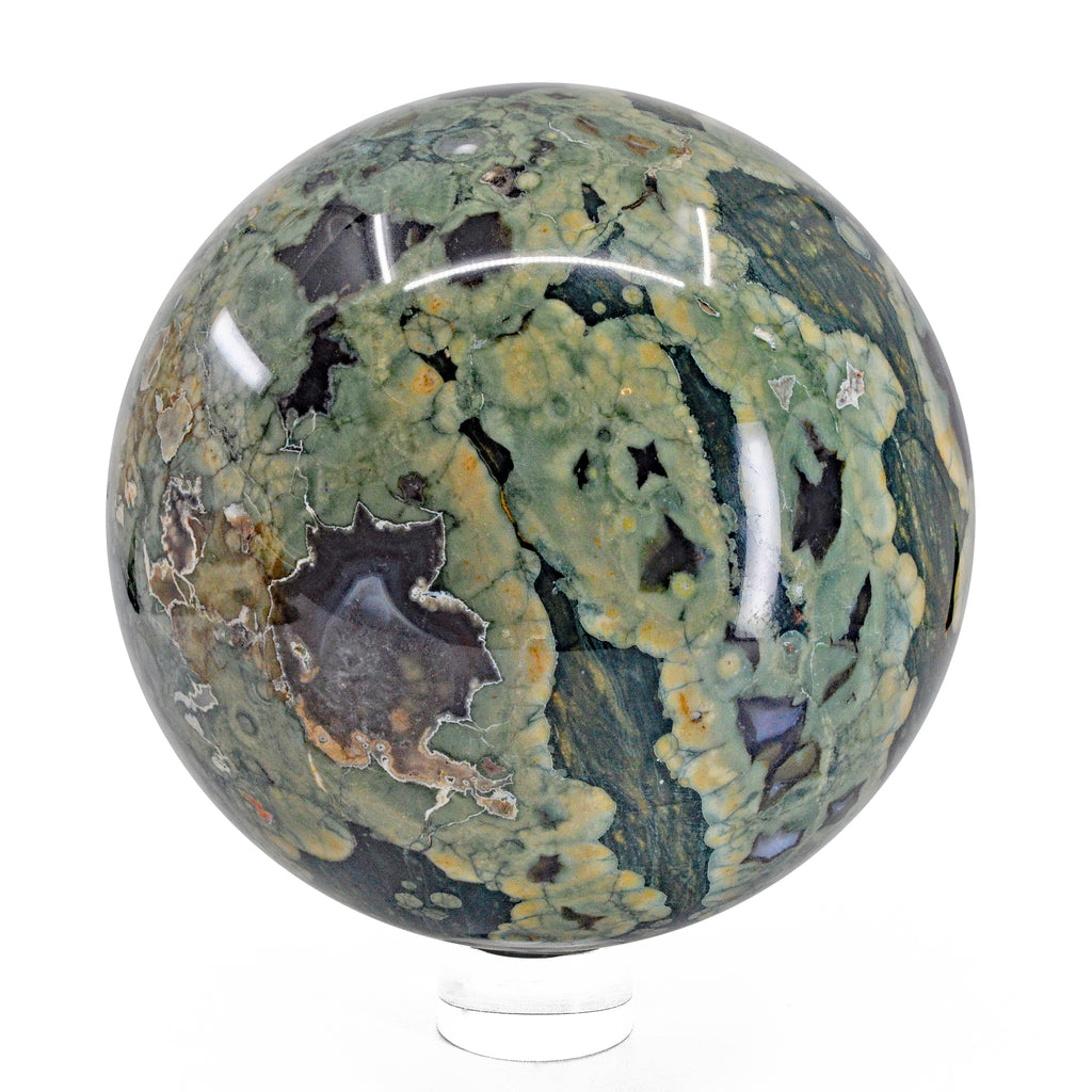 Rhyolite Rainforest Jasper 6 inch 11.3 lb Natural Crystal Sphere - Australia