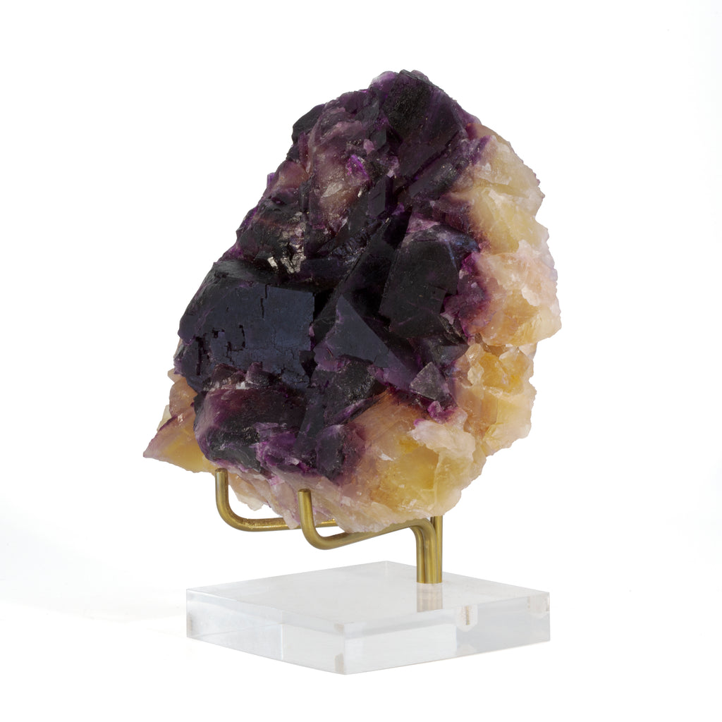 Purple Fluorite 1.78 lb 4.4 inch Natural Crystal Specimen - Illinois, USA