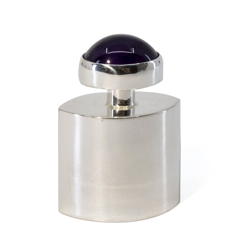 Amethyst and Sterling Silver Gemstone Perfume Bottle