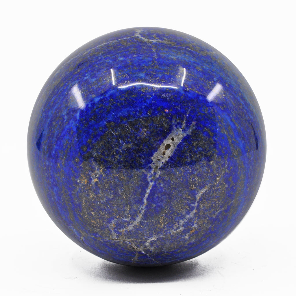 Lapis Lazuli 3.5 inch 2.6 lbs Natural Crystal Polished Sphere - Afghanistan